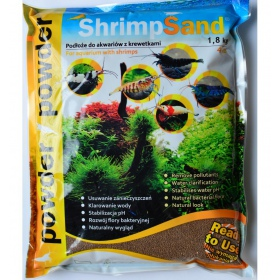Aqua-art Shrimp Sand Powder 1,8kg - Drobne czarne podłoże
