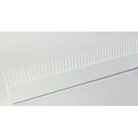 Grzebień przelewowy 42cm Aquario biały