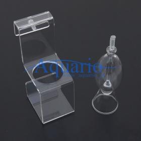 Szklany karmnik z uchwytem