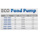 Jebao/Jecod XOE-6500 - pompa fontannowa (32W)