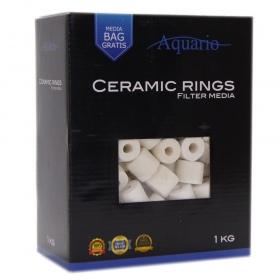 <b>Aquario Ceramic Rings 1kg</b><br /><br />&lt;p&gt;Krążki ceramiczne Aquario Ceramic Rings to niezwykle wydajny wkład filtracyjny, będący jednocześnie najpopularniejszym wkładem stosowanym w akwarystyce. Wysoka porowatość krążków stanowi doskonałe miejsce do osiedlania się bakterii nitryfikacyjnych. Krążki ceramiczne skutecznie wyłapują z wody związki będące pożywką dla bakterii.&lt;/p&gt;