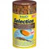 <b>Tetra Selection 100ml cztery pokarmy w jednej puszcze</b><br /><br /><p>Tetra Selection mieszanka czterech pokarmów dla wszystkich typów ryb akwariowych o zróżnicowanym sposobie pobierania pokarmu. Czteryrodzaje pokarmów podstawowych umieszczone są w czterech przegrodach co znacznie ułatwia wybór danego pokarmu i uniemożliwia zmieszanie się pokarmów.</p>