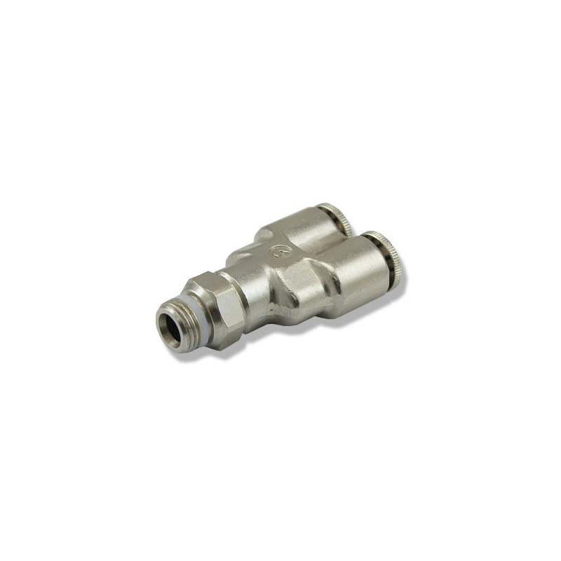 Trójnik metalowy Y 6mm z gwintem 1/8''