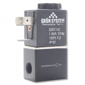 Elektrozawór GRUN SYSTEM 230V 1/8 cala z przewodem  (1.5W)