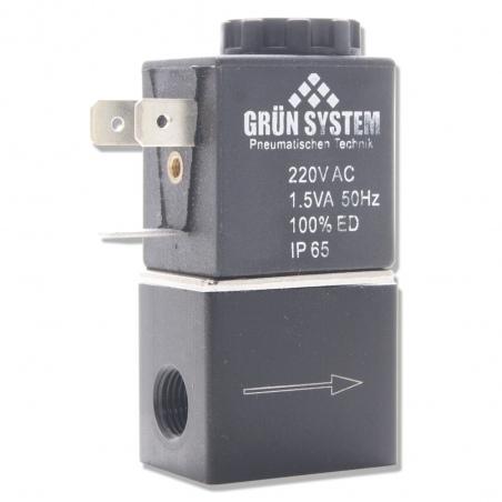Elektrozawór GRÜN SYSTEM 220V  1,5W + kabel zasilający