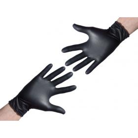 Rękawice ochronne nitrylowe CZARNE 2szt