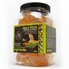 <b>Komodo Jelly Pot Honey Jar - pokarm miód w żelu 60szt.</b><br /><br /><p>Komodo Jelly Pots to wygodny sposób na zapewnienie stałego dostępu do świeżej żywności dla gadów i owadów.<br />Produkt w formie żelu zachowuje swoje właściwości przez długi czas, dostarczając zwierzętom niezbędnych witamin oraz pożywienia. Jelly Pot's posiadają różne smaki nektarów i owoców, aby urozmaicić dietę oraz dopasować wybrany smak oraz suplement diety dla konkretnego gatunku hodowanego pupila.<br /><br /><br /></p>