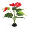 <b>Repti-Zoo roślina sztuczna - Anthurium</b><br /><br /><p>Sztuczne rośliny to najlepsze rozwiązanie naturalnej dekoracji akwarium i terrarium. Łączą w sobie estetykę i naturalny wygląd z trwałością i łatwością w obsłudze. Rośliny sztuczne nie wymagają żadnej opieki hodowcy. Zapewniają schronienie i zmniejszają stres hodowanego zwierzęcia.</p>