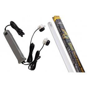 <b>Repti-Zoo zestaw oświetlenia z świetlówką 5.0 UVB 18W</b><br /><br />&lt;p&gt;&lt;span&gt;Jest to kompletny zestaw oświetlenia UVB i UVA przeznaczony do samodzielnego montażu. Jego praca oparta została na stateczniku elektronicznym Repti-Zoo&lt;/span&gt;&lt;span&gt;oraz na Świetlówce Super Reptile Repti Linear Nebula.&lt;/span&gt;&lt;/p&gt;