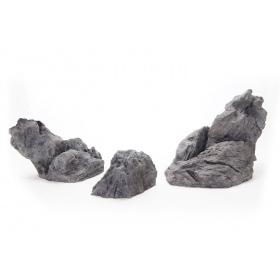 <b>4aqua Iwagumi Set 3 - komplet skał do akwarium 80 - 160l</b><br /><br /><p>4aqua Iwagumi Stones to seria sztucznych kamieni doskonale wpisujących się w styl akwarystyki Iwagumi. Posiadają odpowiednie proporcje, kształty i kolor, dzięki czemu stworzenie zbiornika tego typu jest proste, a efekt jest spektakularny. Zalety produktu umożliwiają wykorzystanie go równieżw hodowli terrarystycznej. Jest bezpieczny dla gadów,płazów i ssaków.</p>