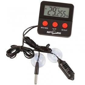 <b>Repti-Zoo SH124 - aparat pomiarowy temperatura i wilgotność</b><br /><br />&lt;p&gt;Zaawansowane urządzenie stale monitorujące panujące warunki w terrariumjak i poza nim. Dokonuje pomiary temperaturyoraz wilgotności co 10sekund i zapamiętujeminimalną jak i maksymalna wartość odczytu pomiaru.&lt;br /&gt;Dzięki tej stacji badawczej stale możemy monitorować warunki obecnie panujące wkilku miejscach w terrarium oraz sprawdzić historię wskazań temperatury i wilgotności.&lt;/p&gt;