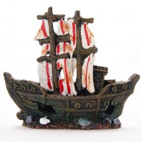 Yusee Dekoracja - Statek Piratów 15x5x13cm