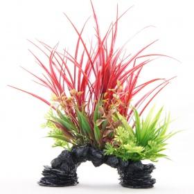 Yusee Dekoracja - Rośliny Trawiaste na Skale 18x9x30