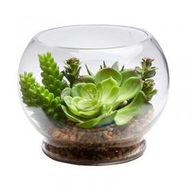 <b>Glass Orb II - Szklana kula z podstawką 2.5l</b><br /><br />&lt;p&gt;Szklana kula przystosowana do tworzenia dekoracji &quot;las w słoiku&quot;.Kształt jak i wymiary wazony dedykowane są do aranżacji suchych i wilgotnych.&lt;/p&gt;