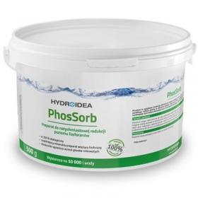 <b>Hydroidea PhosSorb 500g - absorbent fosforanów</b><br /><br /><p>Preparat mineralny skutecznie wiążący fosforany. Wyraźnie hamuje wzrost i rozwój wszelkiego rodzaju glonów w zbiornikach wodnych. Ogranicza powstawanie osadów dennych, zapobiegając tym samym akumulacji mułu i formowaniu się szlamu. Poprawia kondycję roślin wodnych. Preparat stosowany w zalecanych dawkach jest bezpieczny dla ludzi, roślin oraz ryb i innych organizmów wodnych.</p>