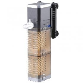 <b>SunSun Turbo Filter - filtr modułowy 600l/h</b><br /><br /><p>Filtr o dwóch koszach na złoże filtracyjne. Unikalna konstrukcja umożliwia korzystanie z wkładów takich jak węgiel aktywowany, bio-ceramika, bio-balle, Organ-Ex lub inne media filtracyjne. Kosze standardowo wyposażone są w gąbki filtracyjne. Filtr oprócz świetnej filtracji może również wodę napowietrzać oraz posiada płynną regulacje wydajności.</p>