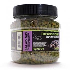<b>Komodo Tortoise Diet Salad Mix 170g - pokarm dla żółwi</b><br /><br /><p>Komodo Tortoise Diet to kompleksowa dieta, która została sformułowana, aby zapewnić pełną dietę dla popularnych europejskich gatunków żółwi domowych, takich jak: czerwonolicy, grecki, stepowy czy błotny.<br />Zawiera zrównoważoną zawartość witamin i minerałów, jego smak oraz zapach jest uwielbiany przez wszystkie żółwie, a postać granulek ułatwia podawanie, dzięki czemu karmienie jest niezwykle proste.</p>