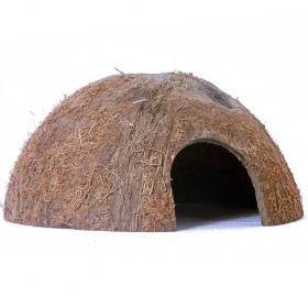 <b>Terrario CocoCave L - połówka kokos naturalny</b><br /><br /><p><span>Terrario CocoCavejest w pełni naturalnym i bezpiecznym wyposażeniem terrarium. Stanowi doskonałą kryjówkę / jaskinie dla wszystkich owadów, pająków, gadów i gryzoni. Produkt jest odporny na wysokie temperatury oraz wilgotność. Nie posiada sztucznych barwników czy konserwantów.<br /></span></p>