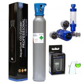 <b>Zestaw CO2 Aquario BLUE Standard (z butlą 8l)</b><br /><br /><p><span>Zestaw BLUE Standard to kompletny system CO2, który jest gotowy do użycia praktycznie zaraz po wyciągnięciu z pudełka. Sercem zestawu jest kompaktowy reduktor stworzony z myślą o akwarystyce, wyposażony w zintegrowany metalowy licznik bąbelków oraz zaworek precyzyjny.</span></p>