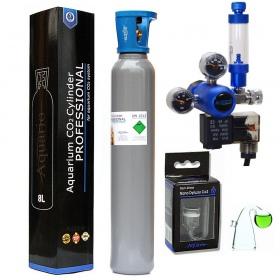 <b>Zestaw CO2 Aquario BLUE Professional (z butlą 8l)</b><br /><br /><p><span>Zestaw BLUE Professional to kompletny system CO2 z elektrozaworem, który jest gotowy do użucia praktycznie zaraz po wyciągnięciu z pudełka. Sercem zestawu jest kompaktowy reduktor stworzony z myślą o akwarystyce, wyposażony w zintegrowany elektrozawór, metalowy licznik bąbelków oraz zaworek precyzyjny.</span></p>