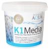 """<b>Evolution Aqua K1 Media 3l - ruchomy wkład filtracyjny """"Kaldnes""""</b><br /><br /><p>Ruchome media filtracyjne zapewniają o wiele skuteczniejszą filtrację biologiczną w porównaniu nawet do najlepszej i najbardziej porowatej ceramiki. Dzieje, się tak gdyż wkład ten posiada lepszy dostęp do tlenu i pożywki, co wpływa na szybszy rozwój bakterii nitryfikacyjnych, zapewniając najlepsze osiągi filtracji Twojego filtra.</p>"""