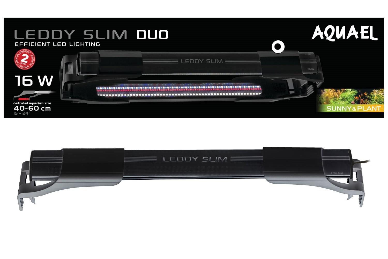 Aquael Leddy Slim 16W Duo Sunny&Plant Czarny