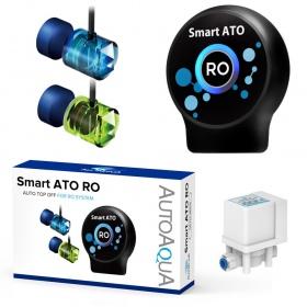 """<b>AutoAqua Smart ATO RO - optyczny automat do RO</b><br /><br /><p>Inteligentny system obsługujący kompleksowo filtr RO. Uruchamia i zakańcza produkcję czystej wody wg. minimum i maksimum ustalonego przez użytkownika. Nad odpowiednim poziomem wody stale czuwają optyczne sensory, a każdy z nich ma podwójne """"oko"""". Dodatkowo, przed przelaniem chroni standardowy pływak i inteligentny system zabezpieczeń elektronicznych.</p>"""
